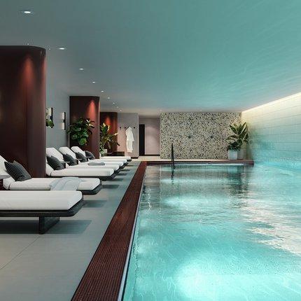 Swimming pool, spa, sauna & steam room