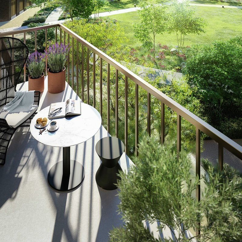 Private outdoor space in all apartments