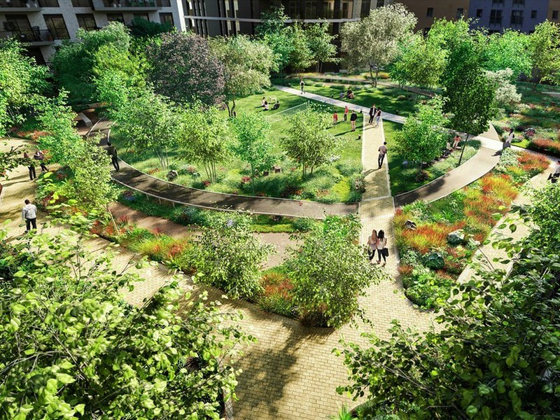 Over 5,000 sq m of landscaped green space