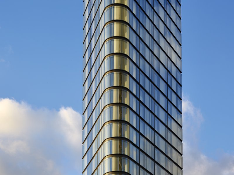 Lexicon's distinctive glass facade