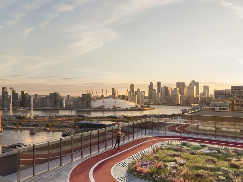 Rooftop running track