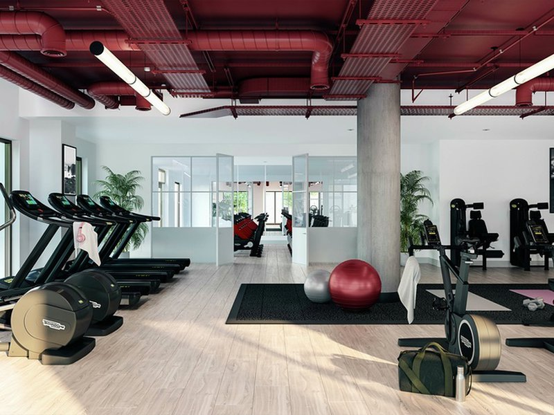 Gym, spinning & yoga studios