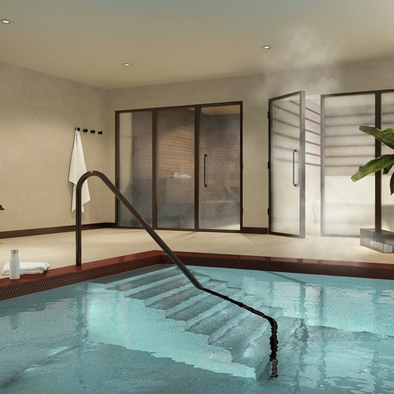 Swimming pool, spa, sauna & steam room