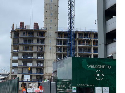 Piling, pods, pipes and progress at Royal Eden Docks