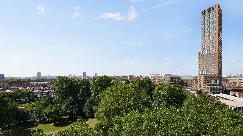 CGI of Keybridge and Vauxhall Park